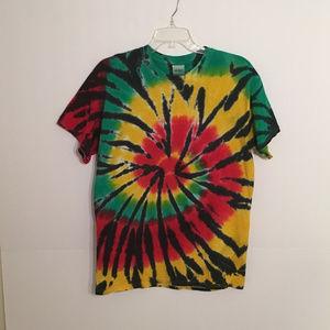 Crew Neck Tie Dye Shirt for Summer